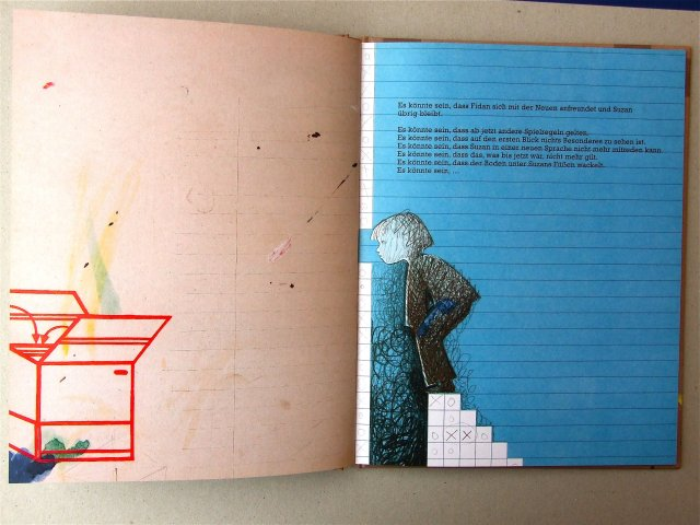 Doppelseite aus dem Bilderbuch 'Alles gut'