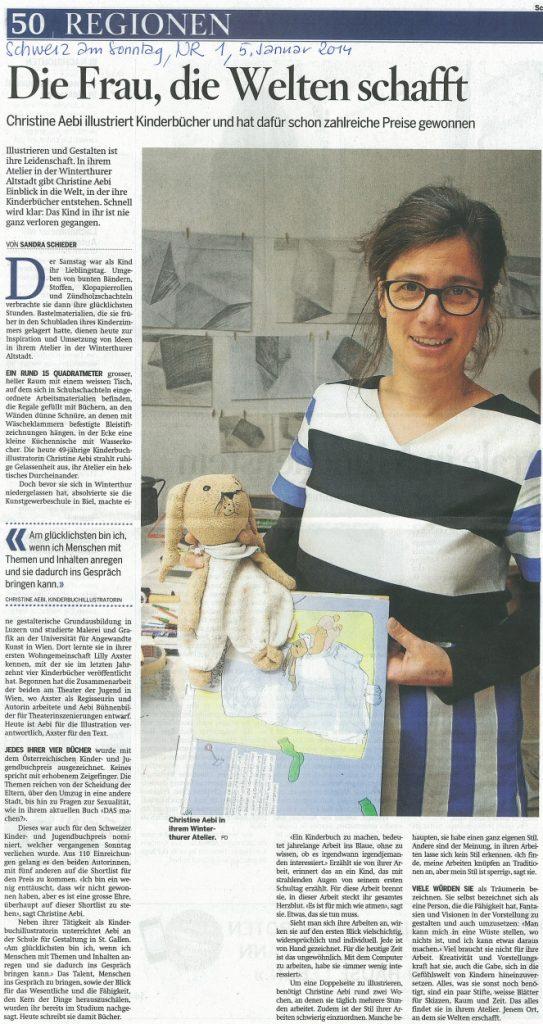 Artikel über Christine Aebi