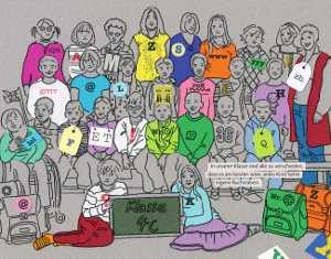 Zeichnung der Klasse 4c