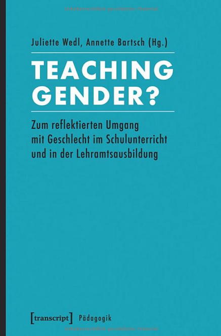 Umschlag 'Teaching Gender' in hellblau/türkis