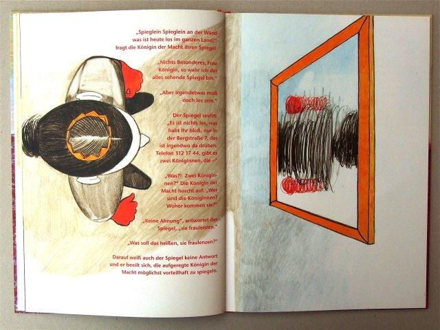 Doppelseite aus dem Bilderbuch 'Fraulenzen'