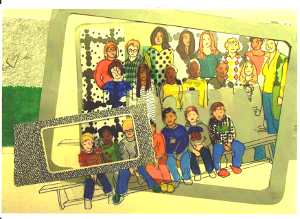 Die Klasse 4c: Foto in einem Rahmen